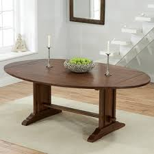 carver dark oak oval extending dining table with 6 wayne ivory chairs 6771