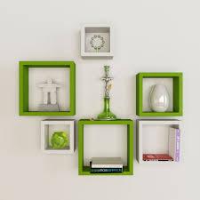 wall furniture shelves. White Green Square Floating Wall Shelves Furniture