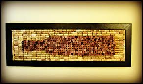 our new wine cork wall art