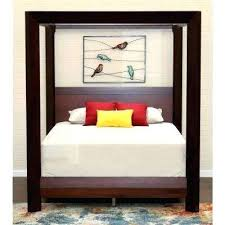 Wood Canopy Bed Island King Canopy Bed Solid Wood Twin Canopy Bed ...