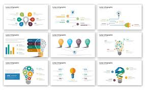 Infographic Website Template Lamp Infographic Presentation Powerpoint Template Templates For
