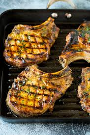 grilled pork chops dinner at the zoo