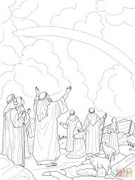 Gods Regenboogverbond Met Noach Kleurplaat Gratis Kleurplaten Printen