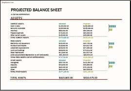 Projected Balance Sheet In Excel Projected Balance Sheet Template Excel Projected Balance