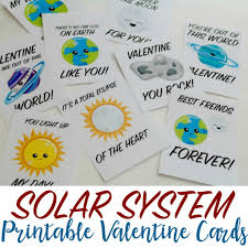 Valentines Day Cards For Boys Solar System Printable Valentines Day Cards For Kids