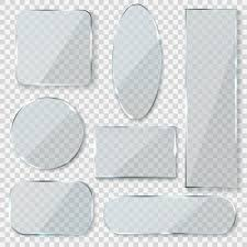 Glass Blank Banners Rectangle Circle Glass Texture Window