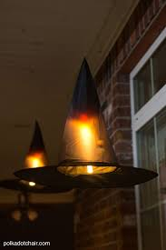 diy halloween lighting. Clever Decorating Idea For A Porch Halloween, Floating Witch\u0027s Hat Luminaries, They Even Diy Halloween Lighting