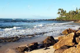 Laniakea Beach On Oahus North Shore Hawaii Usa