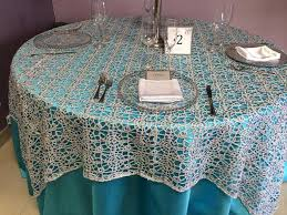 sequin table overlay for weddings