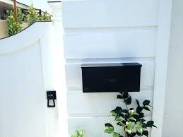 black wall mount mailbox woodlands lockg