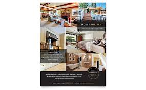 Interior Design Brochure Template Stunning House For Rent Flyer Template Design