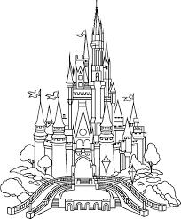 walt disney castle drawing best disney castle coloring page