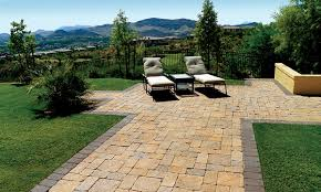 patio pavers over concrete. Outdoor Patio Overlooking Mountains Pavers Over Concrete