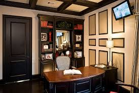 home office in basement. the basement work space helps keep life a comfortable distance from home above if your has door directly to outside office in h