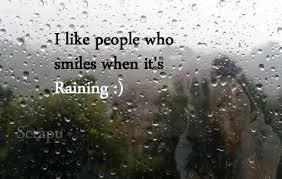 enjoying rain fb status
