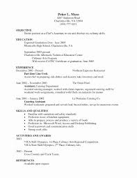 Sample Resume Of Chef Inspirational Beautiful Pastry Chef Resume