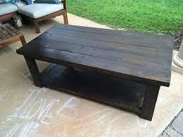 diy rustic style coffee table reclaimed