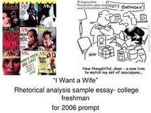 judy brady i want a wife thesis psychology research proposal judy brady i want a wife thesis