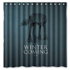 novelty shower curtains. Novelty Bathroom Products!Game Of Thrones_Winter Is Coming Printed Waterproof Polyester Shower Curtain/Bath Curtains