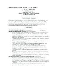 Cover Letter For Social Work Resume For Social Worker Resume Social