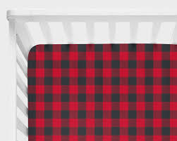 buffalo plaid baby bedding lumberjack nursery bedding fitted crib sheet rustic crib bedding