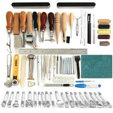details about professional leather craft tools leather sewing tools set carving stamping kits