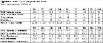 Mens Plus Size Chart Aggression Castro Tab Adjuster Plus Size Pant Black 2xl 10xl