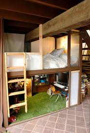 bedroom loft ideas. loft bedroom with open wood ceiling beams ideas