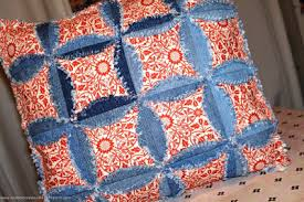 Quilt Inspiration: Free pattern day ! Denim quilts & Denim and lace cathedral windows bag by Ulla Niemela at Ulla's Quilt World  (inspiration only), inspired by the tutorial at A Passionate Quilter Adamdwight.com