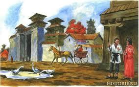 Древний Китай Цивилизация древнего Китая Китайская империя Улица китайского города эпохи Восточного Чжоу