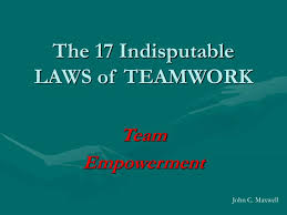 Teamwork Presentations 17 Laws Of Teamwork Ppt