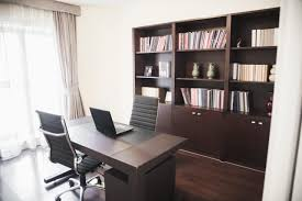 ways to organize office. Modern Home Office With Bookshelves. Ways To Organize