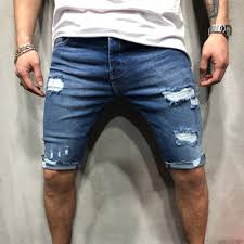 Light Blue Jean Shorts Mens Us 15 99 New 2019 Summer Hole Denim Shorts Mens Jeans Shorts Hip Hop Slim Shorts Blue Light Blue S 3xl In Casual Shorts From Mens Clothing On