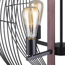 patriot lighting gage 4 light black with wood accents chandelier at menards