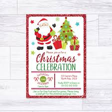 Christmas Inviations Details About Christmas Invitations Personalised Santa Party Invites Celebration Xmas