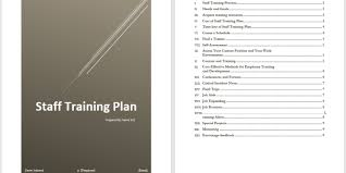 training plan template word staff training plan template microsoft word templates
