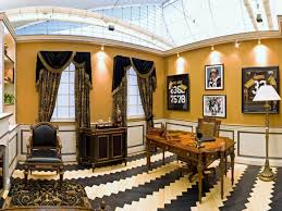 sports office decor. Elaborate Black And Gold Home Office Sports Decor N