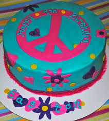 Peace Sign Cake Decorations Peace Sign Cake For Whitney's birthday At least this one doesn't 2