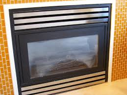 how to clean fireplace glass for gas le