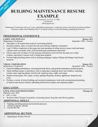Apartment Maintenance Supervisor Resume Http Topresume Info
