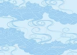 夏の和柄 水 雲 イラスト素材 5084885 フォトライブラリー