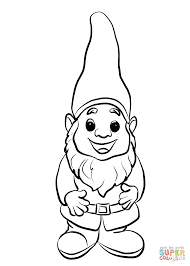 Small Picture Cute Gnome coloring page Free Printable Coloring Pages
