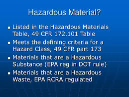 Dot Hazardous Materials Table Ppt Hazardous Material Powerpoint Presentation Id 1197938