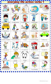 37 FREE ESL daily routine verbs worksheets
