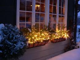 Christmas Window Box Decorations christmas window box with lighting Quecasita 59