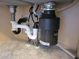 install black garbage disposal under double sink kitchen