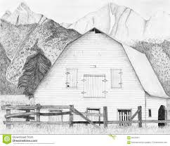 farm fence drawing. Old Weather Barns Pencil Drawings | Drawing Of An Abandoned Barn And Split-rail Fence With Tall . Farm I