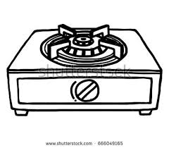gas stove clipart black and white. gas stoves / cartoon vector and illustration, black white, hand drawn, sketch stove clipart white