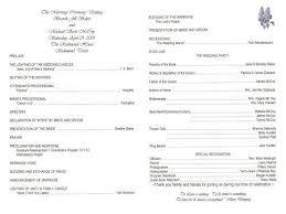 sample wedding program wording rustic country wedding invitations wedding programs wedding