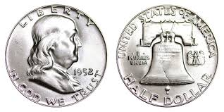 1952 Franklin Half Dollar Liberty Bell Coin Value Prices